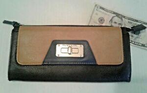 Franco-Sarto-Leather-Clutch-Purse-Wallet