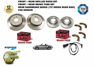 SENSOR FOR PORSCHE BOXSTER 2.7 1999-2009 FRONT DRILLED BRAKE DISCS PADS KIT