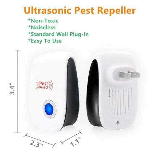 6Pcs Ultrasonic Electronic Pest Control Repellent Insect Anti Mosquito Reject US