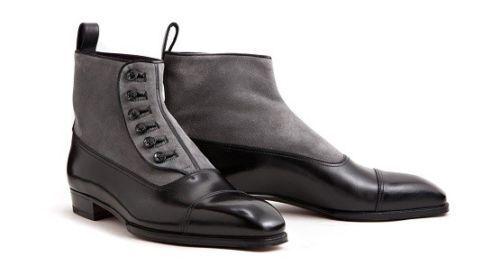 hombres pelle e Camoscio Bottoni botas, Caviglia botas da