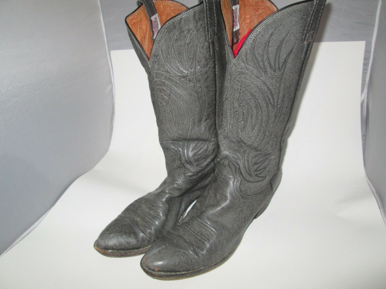 Men's NOCONA Cowboy Western Boots G017G Leather Size 11 B Weathered Grey USA