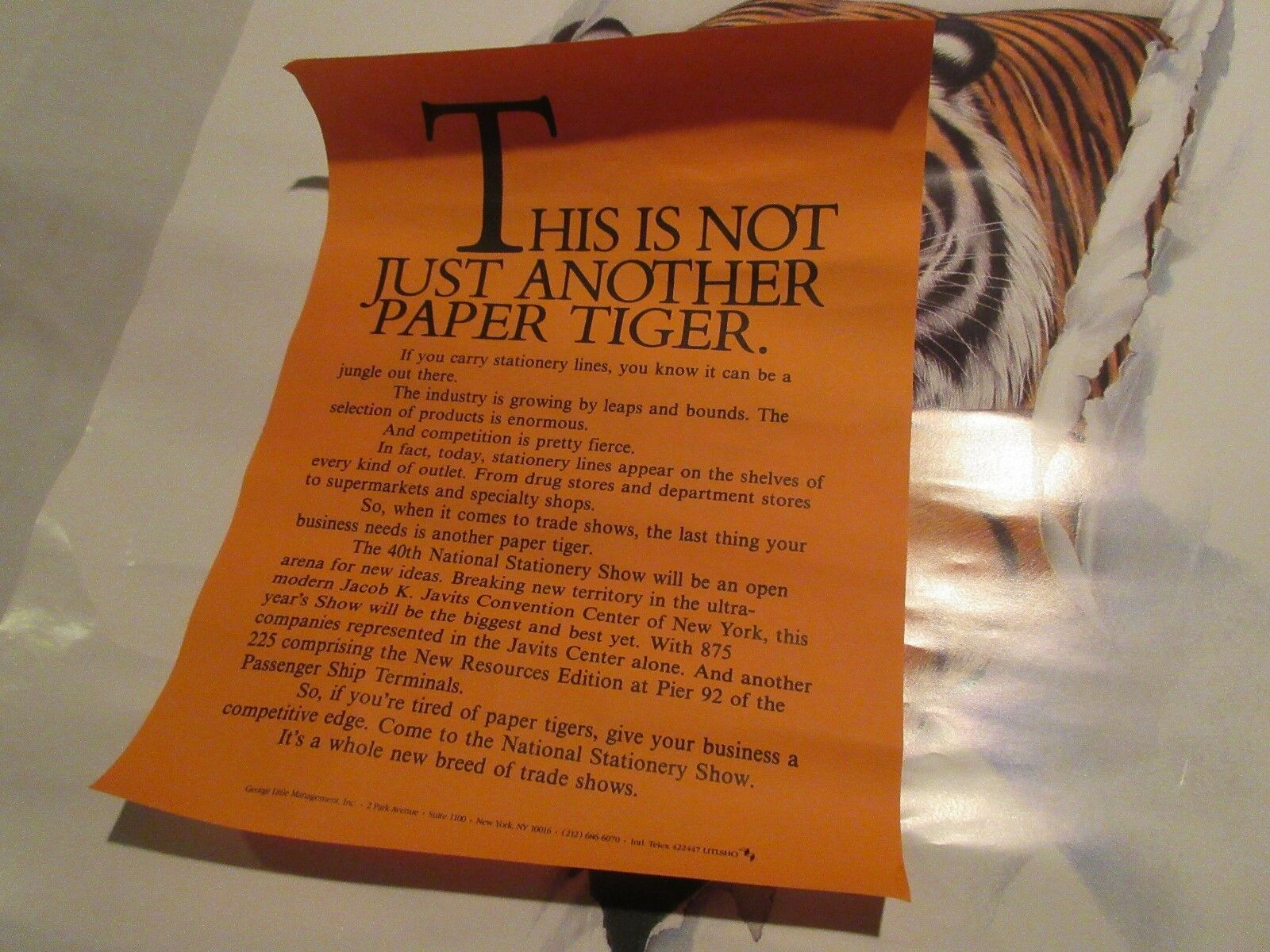 Poster , PAPER LION , National Stationery Show , 1986 ,