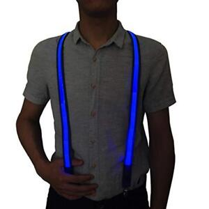 Light up Suspenders USB Rechargeable Led Suspenders Neon Suspenders LED Suspenders for Men /& Women