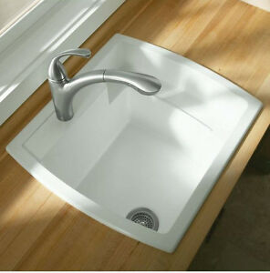 ... -25-034-x-22-034-Vikrell-Self-Rimming-Utility-Sink-in-White-995-0-New