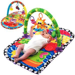 Krabbeldecke mit Bogen Tiere Spielmatte Spieldecke Greiflinge Kinder baby Decke