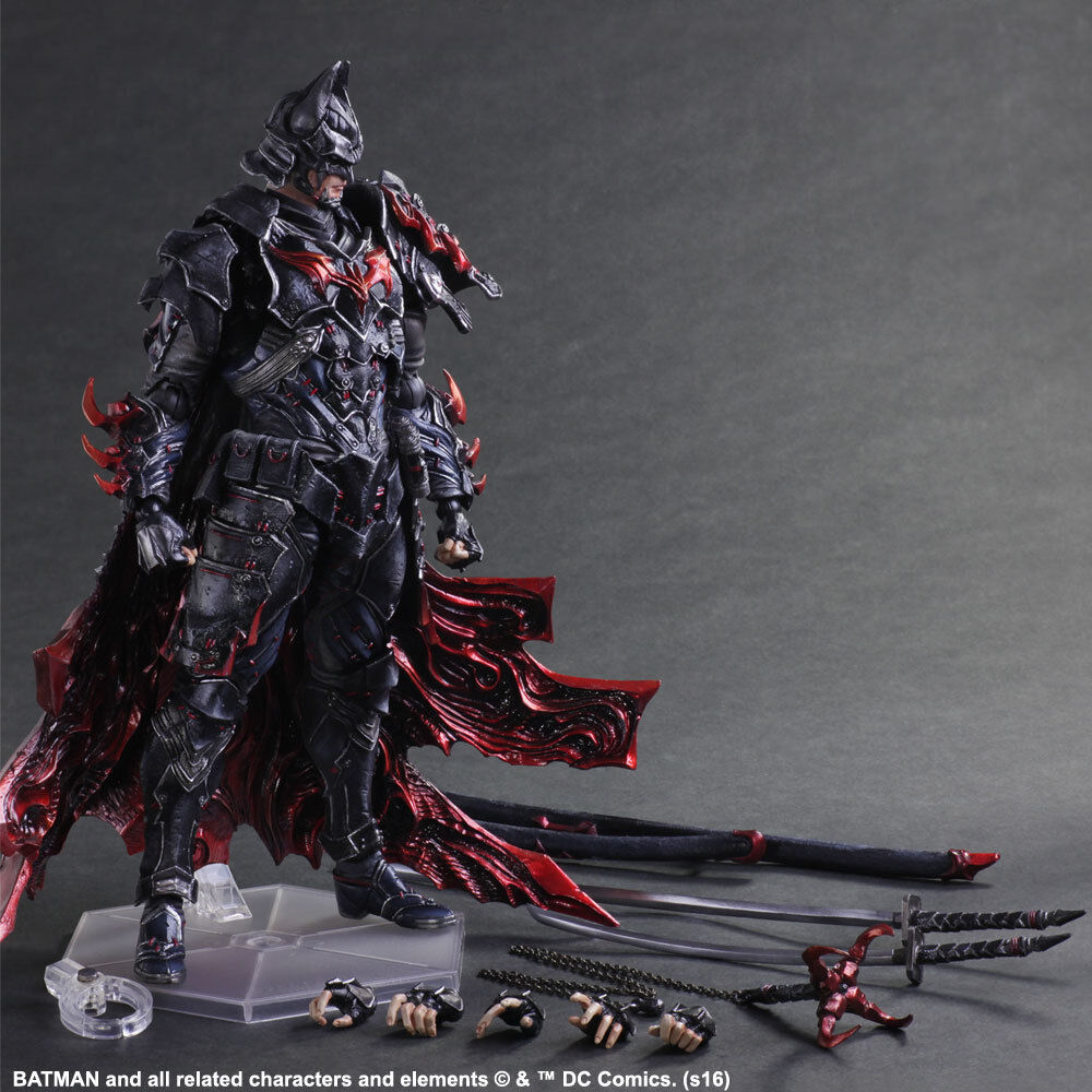 DC Comics Variant Play Arts Kai Batman Bushido Ver. Action Figure New In Box