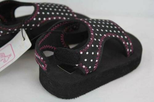 NEW Toddler Girls Sandals Size 6 Summer Casual Shoes Black Pink Polka Dot