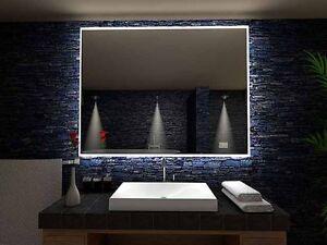 Détails sur Miroir lumineux LED salle de bain ?Pontivy?, LED  illuminé,éclairage, lumière