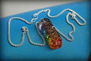 7-Chakra-Crystal-Pendant-Necklase-Chakra-Healing-Reiki-EMF-ProtectionUSA-Seller