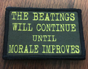 The Beatings Will Continue Until Morale Patch Tactical