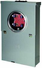 Homeline 100 Amp 10 Space 20 Circuit Outdoor Main Breaker Box Overhead Csed Pack
