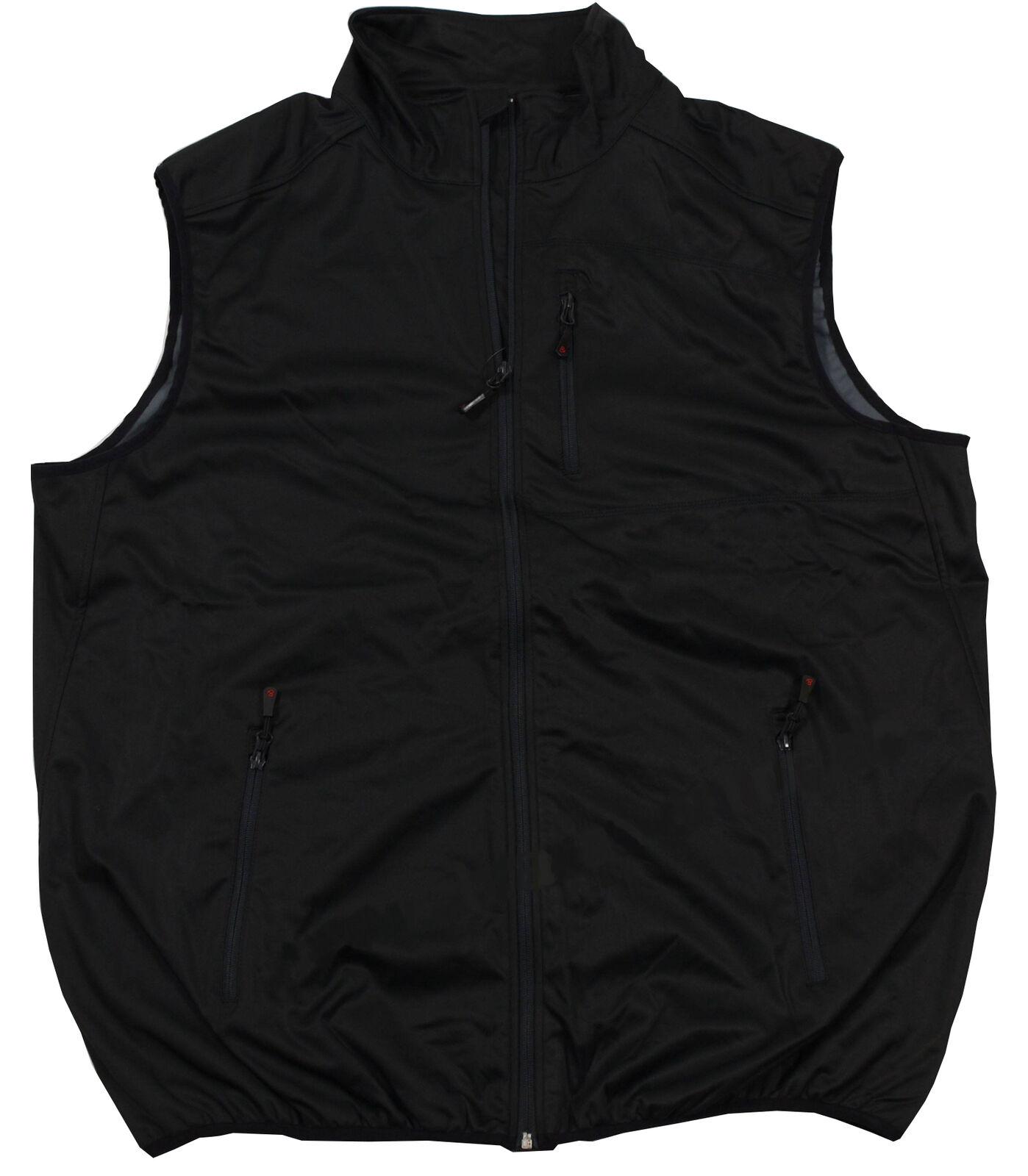 Echte Übergrößen     Bi-elastische Softshell Weste Marc & Mark black 3XL - 12X