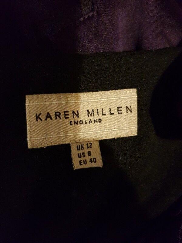 KAREN MILLEN dress dress dress - Size 12 - Pure Silk - Lined 1e10aa