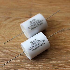 2.7uF 400V Matched Pair of High Quality Audio Capacitors for Speaker Crossovers