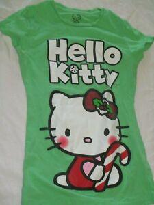 d97d453b6 Hello Kitty Sanrio Holiday T-Shirt Top Girls Size XL 14 16 Christmas ...