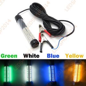 12v green blue white yellow underwater led fishing light for Green led fishing lights