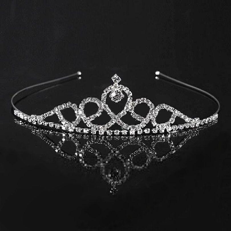 Tiara Diadem Crown Hair Gesteck Bridal Rhinestone Wedding Accessory Headband