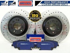FOR-HYUNDAI-i30N-2-0-T-GDi-17-FRONT-DRILLED-BRAKE-DISCS-BORG-amp-BECK-PADS-345mm