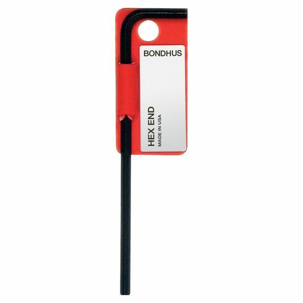 Bondhus HEX END L-WRENCH Long Tag-Bar,Sharp CornersUSA Made- 9 16 ,5 8  Or 3 4