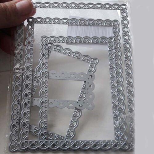 Metal Flower Frame Cutting Dies Template Die Cut For Scrapbook DIY Album Card