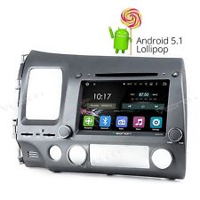 "8"" Android 5.1 Car DVD Player Quad Core Stereo GPS Radio BT for Honda Civic A 3G"