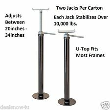 """2 Pack RV Slide Out Stabilizer Jacks Over 100000 LBS Each U Top Shape 20 To 34"""""""