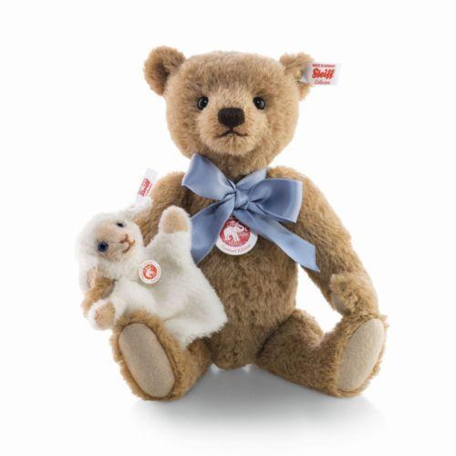 Steiff Edizione Limitata Little Boy blu Teddy Bear EAN 683077 30cm + scatola USA NUOVO