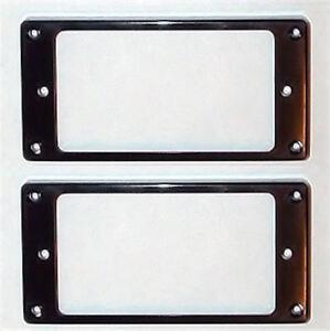 Capable Guitar Parts-humbucker Pickup Mounting Rings Garniture Panneaux-lot De 2-noir-afficher Le Titre D'origine à Distribuer Partout Dans Le Monde