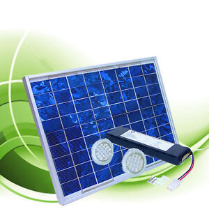 12w Solar Panel 2 Led Light Battery Skylight Tunnel Ebay