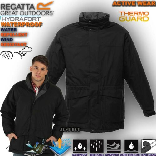 Regatta chaqueta para hombre Darby Impermeable Acolchado Senderismo Camping Trabajo Abrigo Con Capucha Top