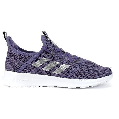 Adidas Kid's Unisex Cloudfoam Pure Tech/Purple/Matte Silver/Core Black Runnin... | eBay