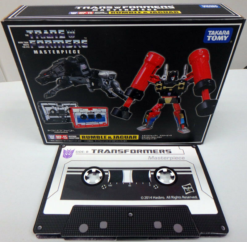 Takara Transformers Masterpiece MP-15 - Rumble & Ravage with Collector Coins.