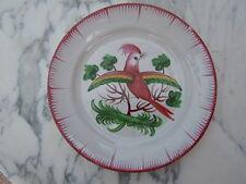 Assiette faïence décor oiseau huppé Les Islettes d'époque fin 18ème
