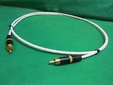 25 FT SILVER PLATED AUDIOPHILE INTERCONNECT S/PDIF RCA DIGITAL CABLE.