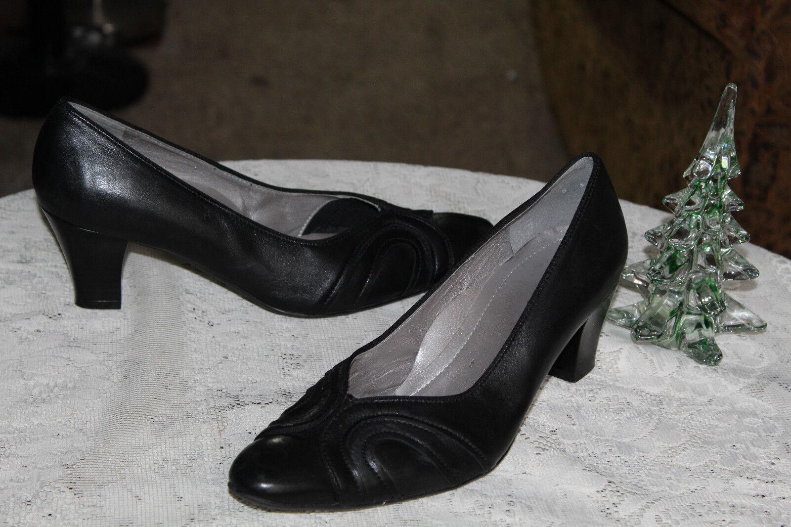 Hermoso Hermoso Hermoso Vestido De Cuero Negro  Ara Talón bombas 6G.  179  perfecto