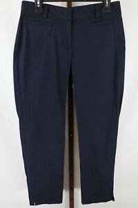 Ann Taylor Womens Ladies Navy Blue Cambridge Cropped Pants Size 8