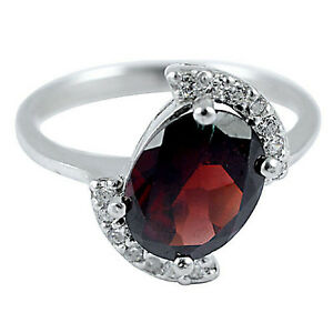 PRECIOUS-REAL-3-Cts-TOP-AAA-RED-ORANGE-GARNET-WHITE-CZ-STERLING-925-SILVER-RING