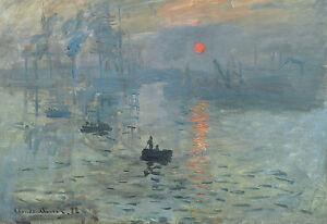 Lámina-Monet impresión Sunrise (imagen Cartel Pintura Arte Van Gogh)