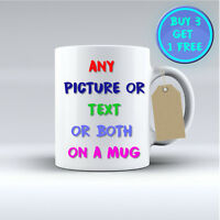 PERSONALISED MUG - YOUR PHOTO & TEXT & DESIGN Coffee Tea Gift CUSTOM MUG CUP