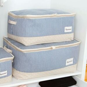 Waterproof-Fabric-Clothes-Storage-Box-Bags-Container-Closet-Organizer-W-Zipper