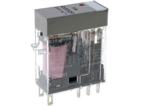 G2R-2-S-24AC Relay electromagnetic DPDT 5A//250VAC 5A//30VDC max380VAC OMRON