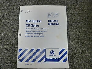 new holland cr920 cr940 cr960 cr970 combine service repair manual 33 rh ebay com