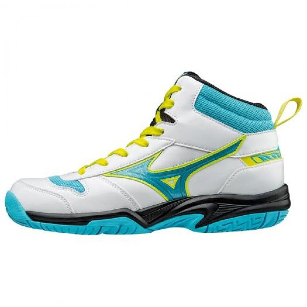 Mizuno Junior Zapatos de baloncesto Rookie BB4 W1GC1770 blancoo Azul Claro ×