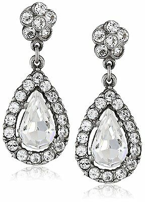 Jewelry & Watches Ben-amun By Isaac Manevitz Silver Crystal Teardrop Earrings Made In Usa Nwt