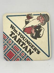 Vintage-WM-Younger-039-s-Tartan-Beer-Coaster-Bar-Decoration-Man-Cave