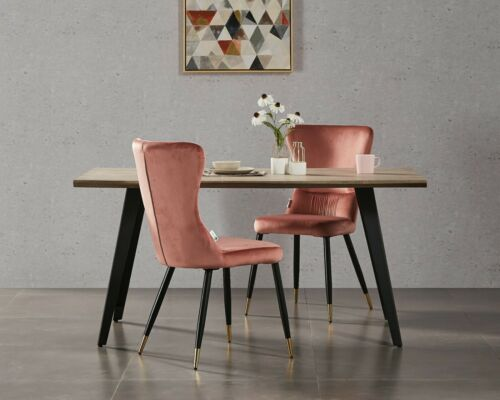 New York Velvet Wing Back High Back Dining Kitchen Accent Chairs Home Furniture