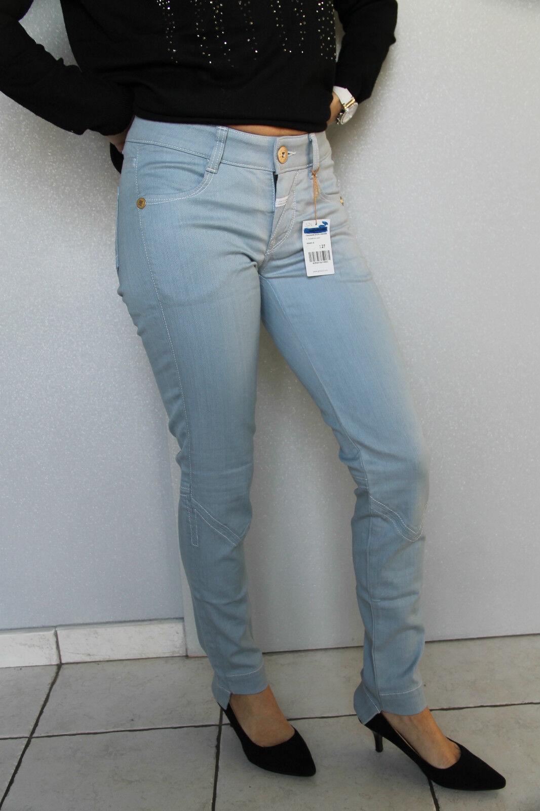 Jeans slim blu clair M&F GIRBAUD tiagageddon Dimensione 31 (40-42) NEUF valeur