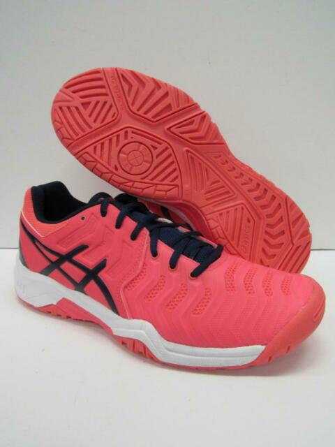 New Asics C700Y Gel Resolution 7 Athletic Tennis Shoes Pink Kids 6 = Womens 7.5
