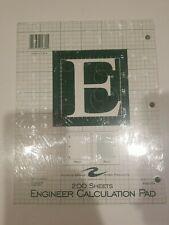 New Listingengineer Pad 85x11 Green 200 Sheets Engineering Calculation Pad
