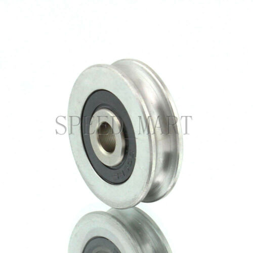 5pc 6x29.3x8mm U Groove Guide pulley 440c Stainless Steel Metal Ball Bearing